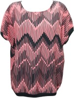 Indiatrendzs Casual Cape Sleeve Printed Women's Top