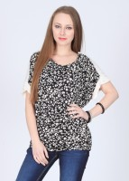 French Connection Casual Short Sleeve Printed Women's Top