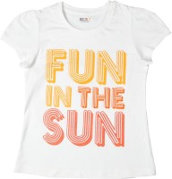 People Casual Short Sleeve Printed Baby Girl's White Top