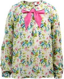 The Cranberry Club Casual Full Sleeve Printed Girl's Multicolor Top