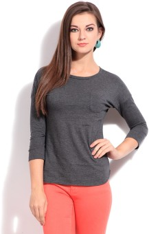 Style Quotient by Noi Casual 34 Sleeve Solid Women Top
