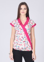 Mossimo Casual Short Sleeve Solid Women's Top