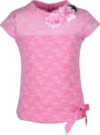 Cutecumber Party Sleeveless Embellished Baby Girl's Pink Top