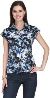 Stilestreet Casual Short Sleeve Floral Print Women's Top - TOPE6SR2YYH3HMXB