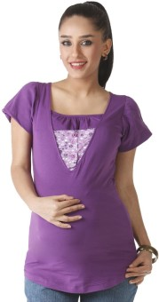 Morph Maternity Casual Short Sleeve Solid Women's Top - TOPE6KGK9YHXGCHT