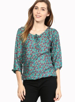 Mayra Party 3/4 Sleeve Printed Women's Top - TOPE847AGXKUMCQS