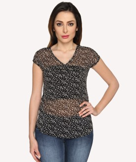Miss Rich Casual Short Sleeve Printed Women's Top