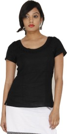 Majori Casual, Party Short Sleeve Solid Women's Top