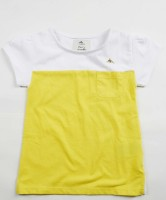 Cherry Crumble California Casual Short Sleeve Solid Baby Girl's Yellow Top