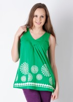 Tantra Casual Sleeveless Printed Women's Top