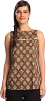 Co.in Casual Sleeveless Printed Women's Top
