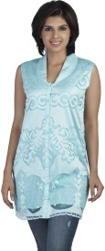 Soie Casual Sleeveless Embroidered Women's Top