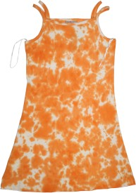 Mankoose Formal Sleeveless Printed Girl's Orange Top