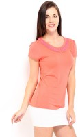 D Muse By Dressberry Casual Short Sleeve Solid Women's Top