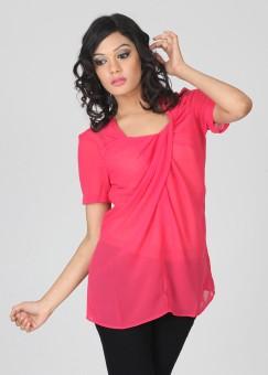 Remanika Casual Short Sleeve Solid Women's Top: Top