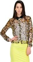 Yepme Casual Short Sleeve Animal Print Women's Top