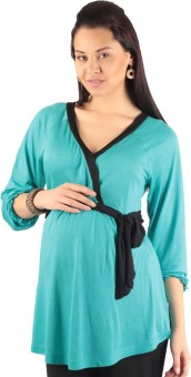 Morph Maternity Casual 3/4 Sleeve Solid Women's Top - TOPE72HZHYSH7SVR