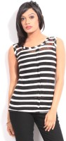 Riot Casual Sleeveless Striped Women's Top - TOPDWPWYBQXQGC59