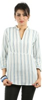 Ladybug Casual 3/4 Sleeve Striped Women's Top