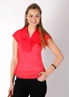 Park Avenue Casual Short Sleeve Striped Women's Top
