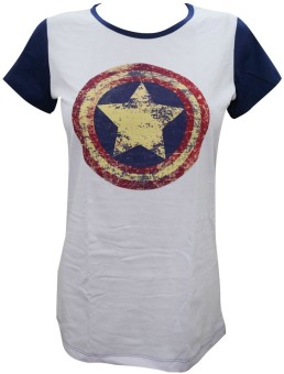 Indiatrendzs Casual Cap sleeve Printed Women's Purple Top