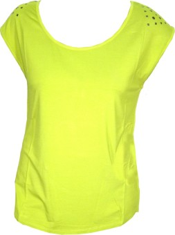 Indiatrendzs Casual Short Sleeve Solid Women's Top: Top