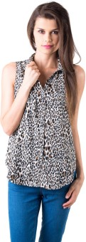 Gypsy Soul Casual Sleeveless Animal Print Women's Top
