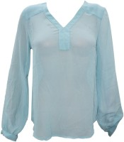 Indiatrendzs Casual Full Sleeve Solid Women's Top