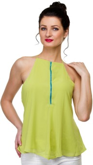 Uvi Style Casual Sleeveless Solid Women's Top