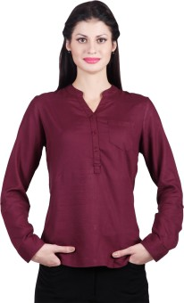 Life Casual Full Sleeve Solid Women's Top Casual Full Sleeve Solid Women's Top
