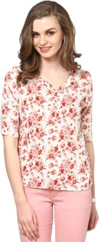 La Zoire Casual 3/4 Sleeve Floral Print Women's Top