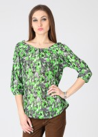 Style Quotient by Noi Casual 3/4 Sleeve Printed Women's Top