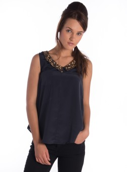 a35aceed53 Bombay High Casual Sleeveless Solid Women Top