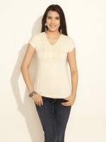 109F Casual Short Sleeve Solid Women's Top