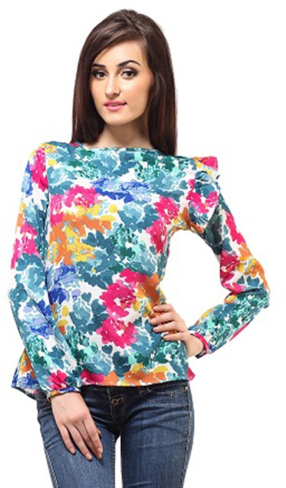 Femme Casual, Casual, Party Full Sleeve Floral Print Women's Top