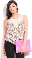 Soie Casual Sleeveless Floral Print Women's Top