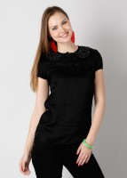 Noi Casual Short Sleeve Solid Women's Top