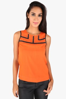 Annabelle By Pantaloons Formal Sleeveless Solid Women's Top