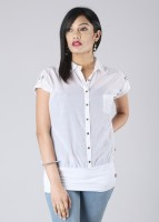 Flying Machine Casual Short Sleeve Solid Women's Top