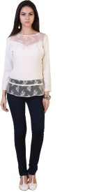 Belle Fille Casual Full Sleeve Solid Women's White Top