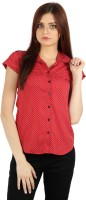 Identiti Casual, Formal Short Sleeve Polka Print Women's Top