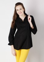 Laven Casual 3/4 Sleeve Solid Women's Top
