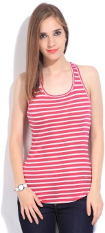 United Colors of Benetton Casual Sleeveless Striped Women Top