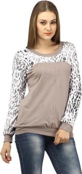 Meee Casual Full Sleeve Animal Print Women's Top