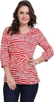 Dede'S Casual 3/4 Sleeve Striped Women's Top