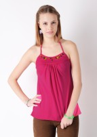 Omra Casual Sleeveless Solid Women's Top