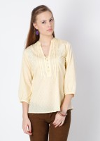 Mineral Casual 3/4 Sleeve Solid Women's Top