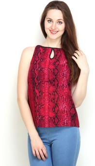 Tops And Tunics Casual Sleeveless Printed Women's Top