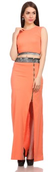 GF AND BF Women's Maxi Orange Dress