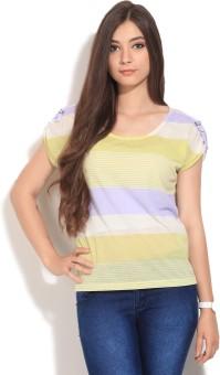 Vero Moda Casual Short Sleeve Striped Women's Top